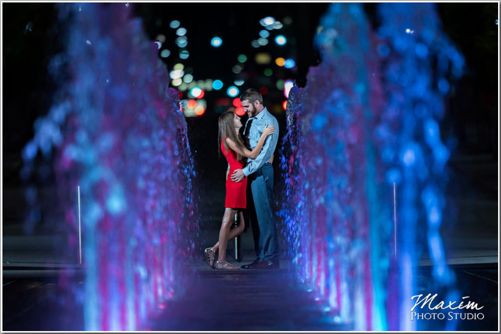 Smale Riverfront fountain engagement