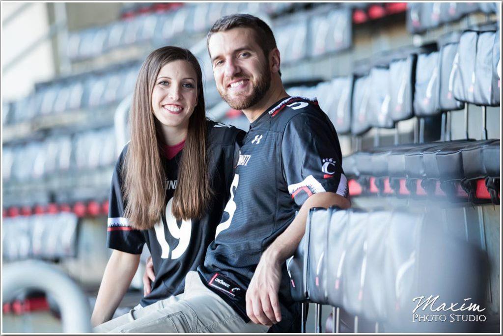 Nippert Stadium cincinnati engagement jersey