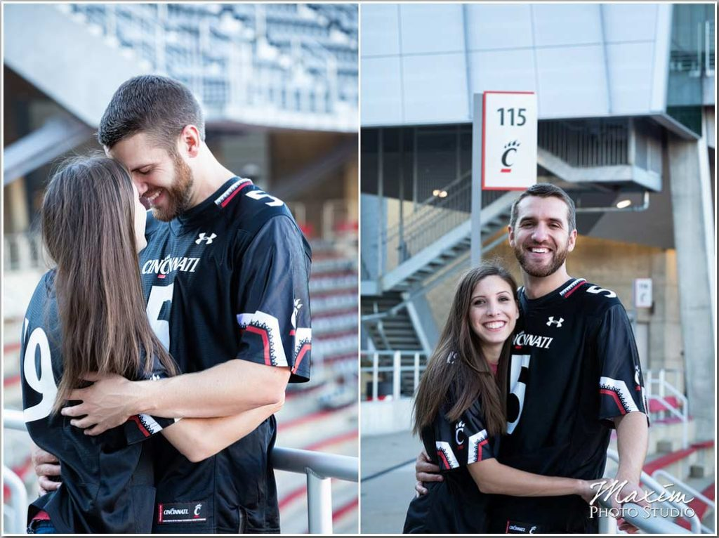 Nippert Stadium cincinnati engagement jersey