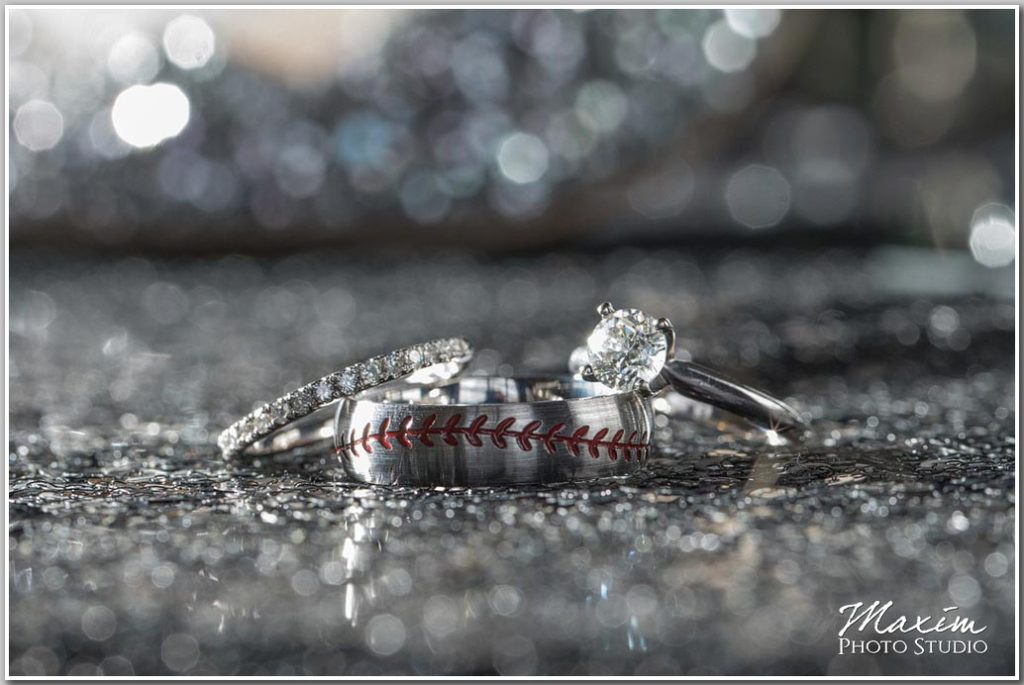 Virginia Destination Wedding photographer baseball ring
