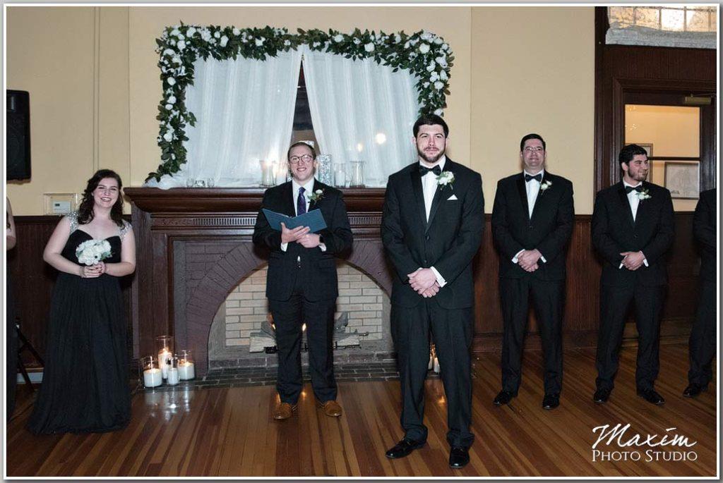 Groom wedding Virginia ceremony