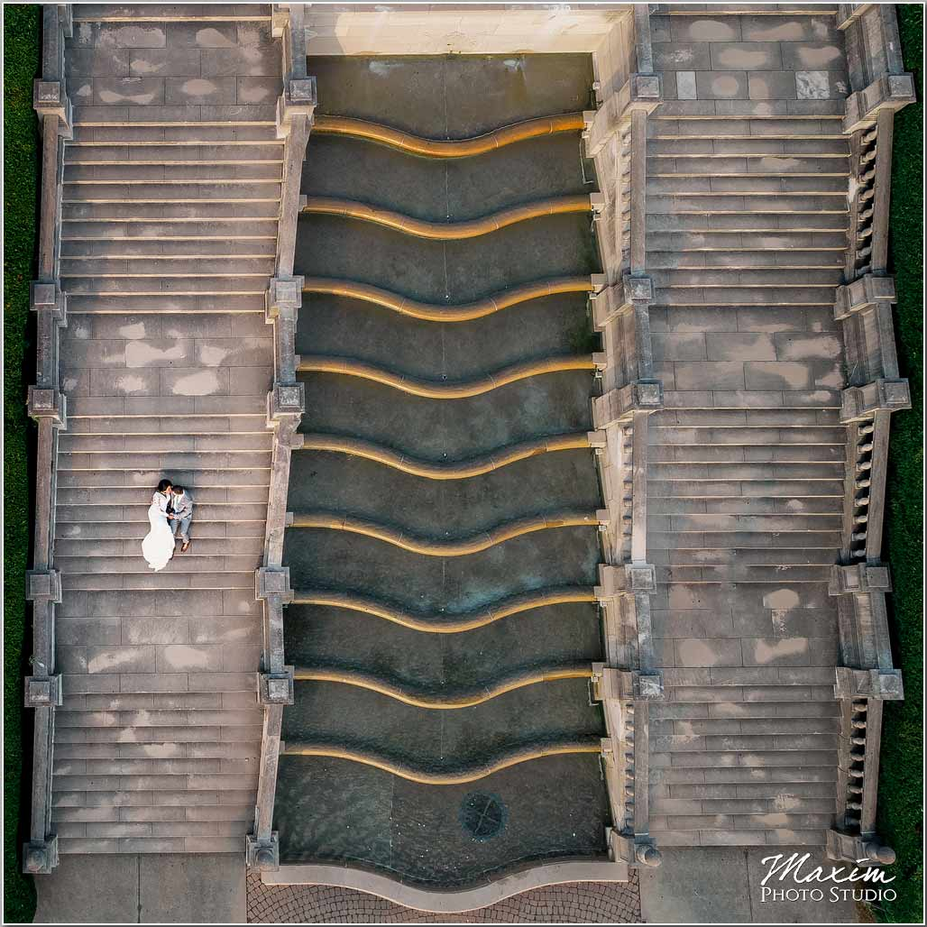 Ault Park Cincinnati Wedding Drone Photography