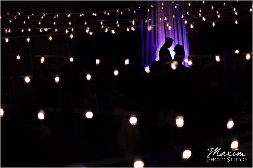 Canopy Creek Farm Miamisburg Ohio bistro lights wedding
