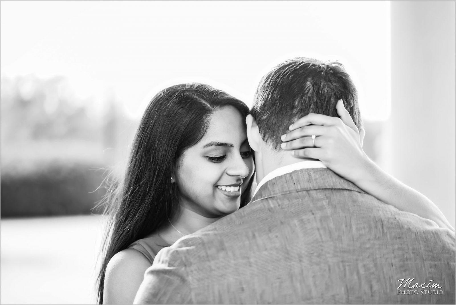 Cincinnati Wedding Photographers Ault Park Engagement black white
