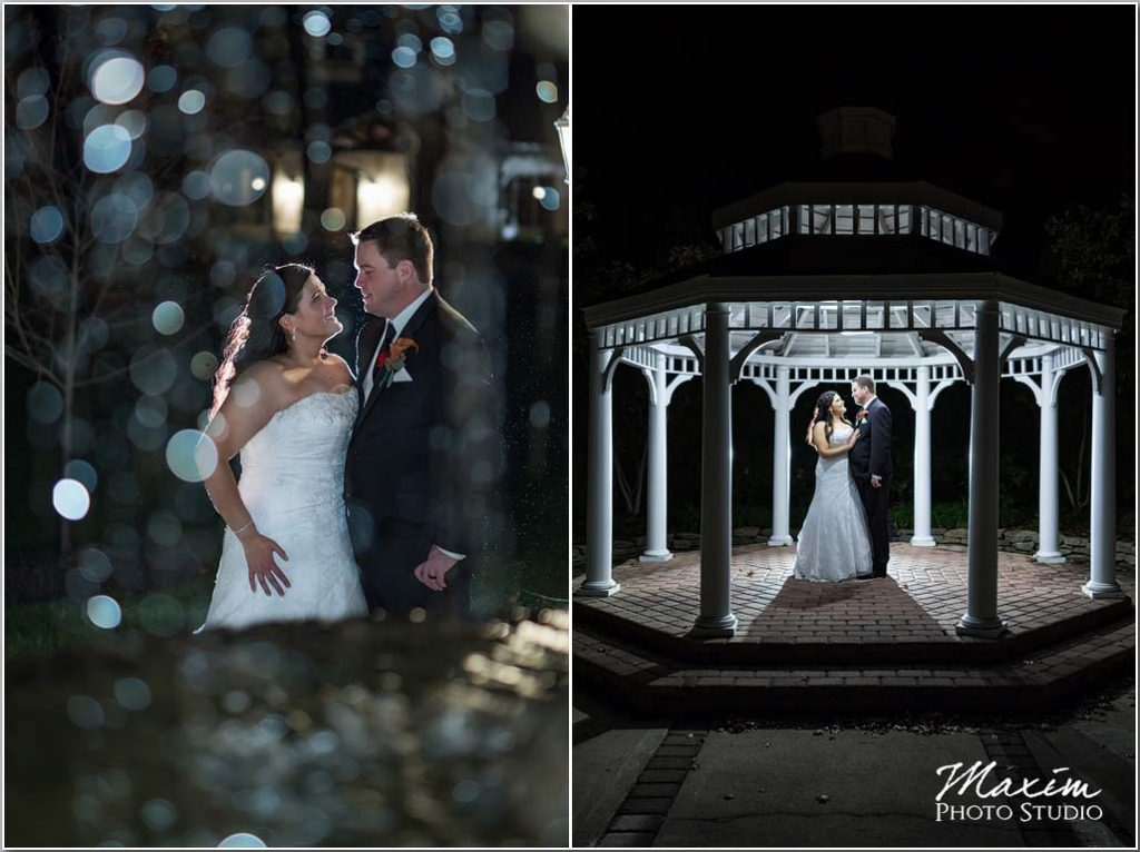 Cincinnati Wedding Photography, Manor House fountain, Off camera flash