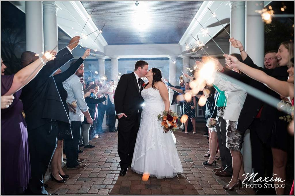 Cincinnati Wedding Photographers Manor House sparklers