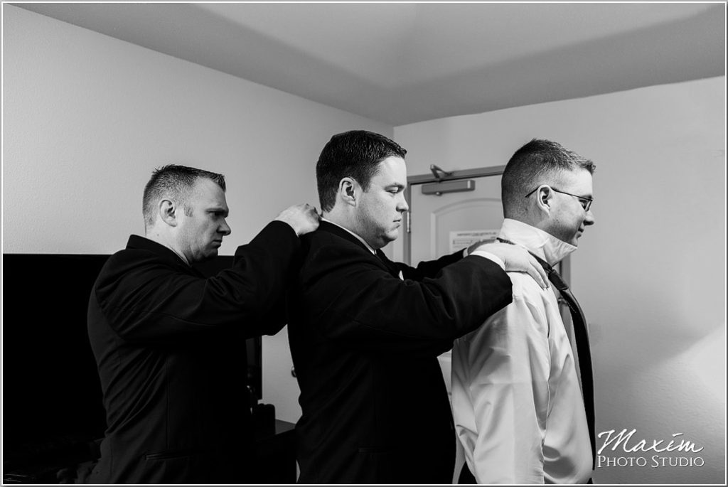 Manor House Ohio Groom preparations