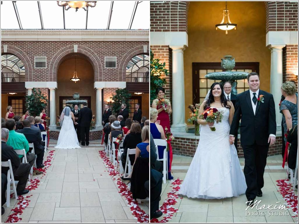 Manor House Ohio, Atrium Wedding, Dayton Wedding Photographer