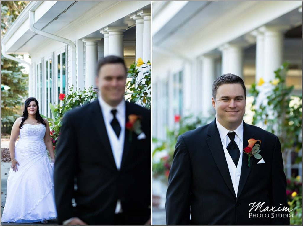 Manor House Ohio bride groom first look