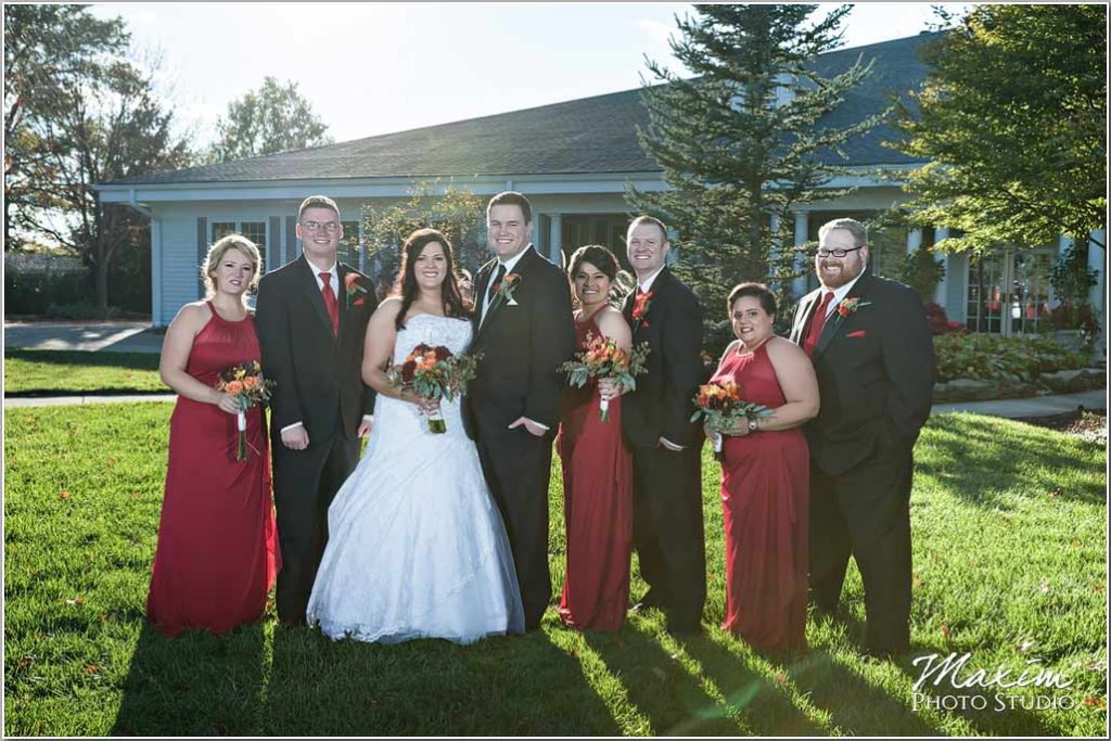 Manor House Ohio wedding party portraits