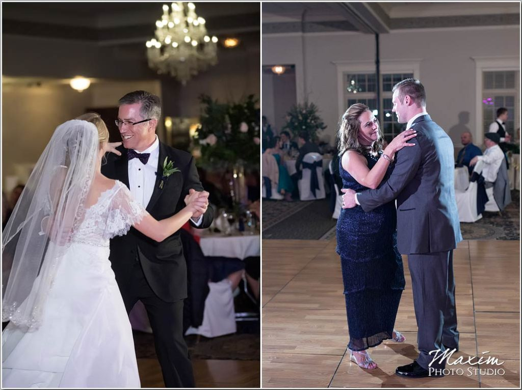 Mother son dance, father daughter dance, Manor House Ohio Wedding