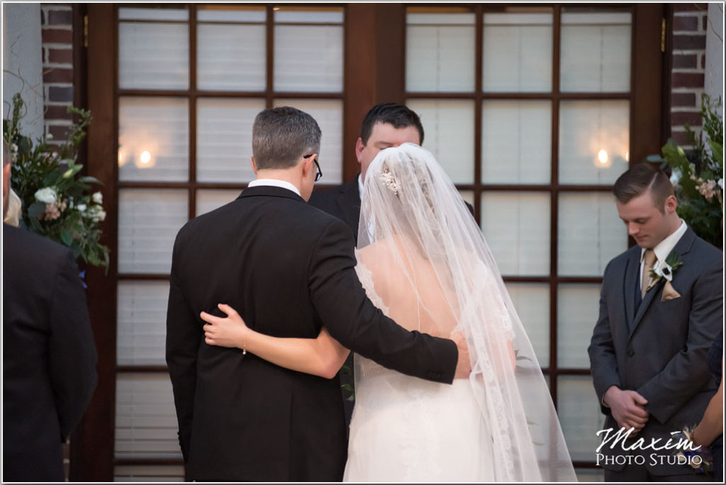 Manor House Ohio Atrium wedding Ceremony