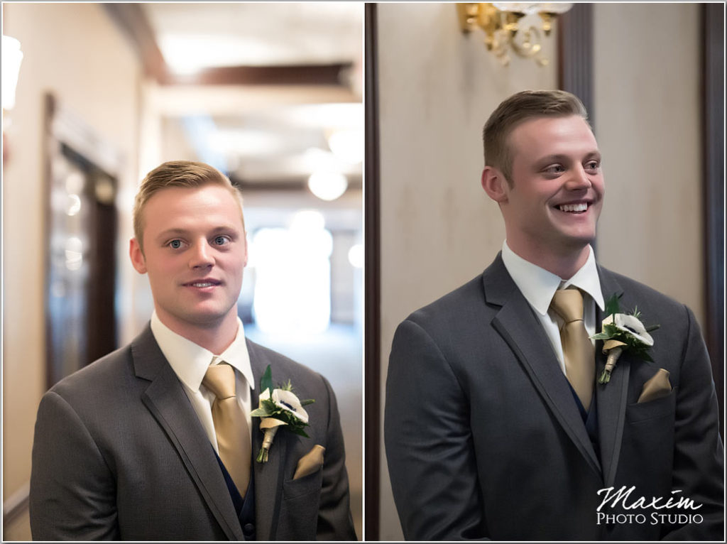 Manor House Ohio wedding groom