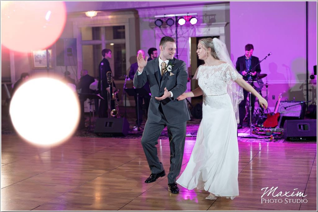 Manor House Ohio Wedding reception dance