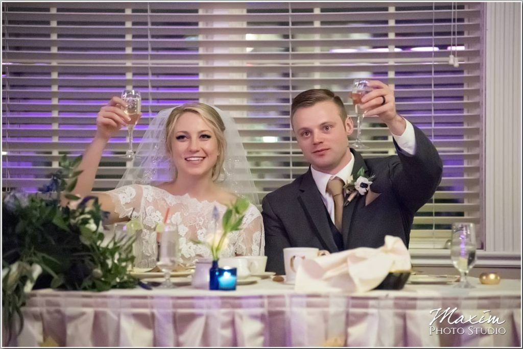 Wedding reception, wedding toast, Manor House Ohio