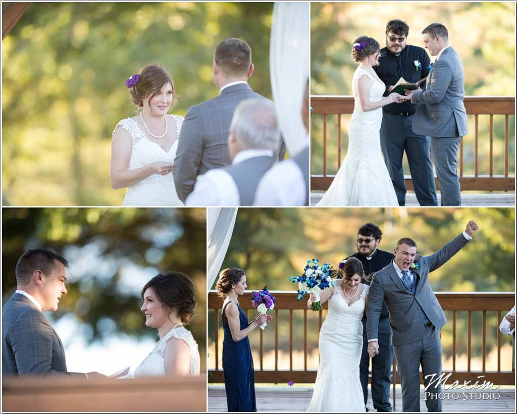 White Oaks Georgia Fall wedding ceremony