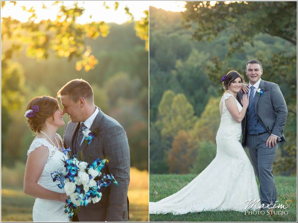 White Oaks Georgia destination wedding sunset hillside
