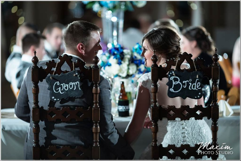 White Oaks Georgia wedding bride groom chairs