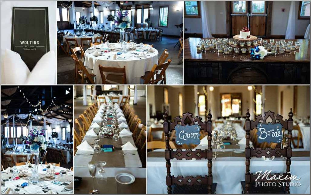 White Oaks Georgia wedding reception table