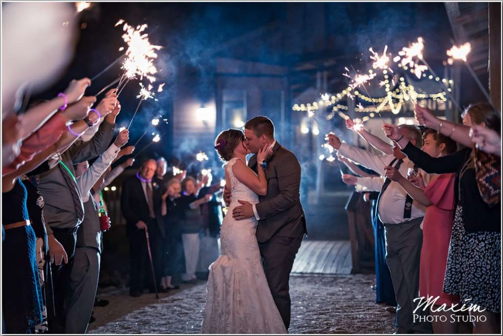 White Oaks Georgia wedding reception sparklers