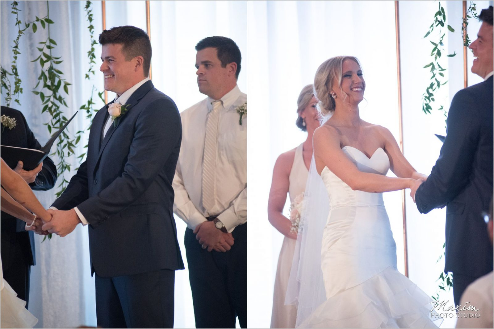 The Phoenix Cincinnati Wedding Ceremony Bride Groom