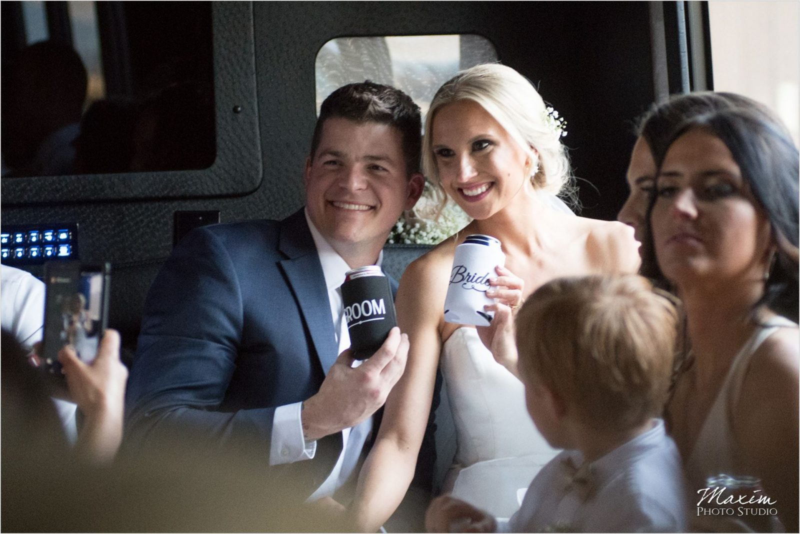 The Phoenix Cincinnati Bride Groom Party Bus