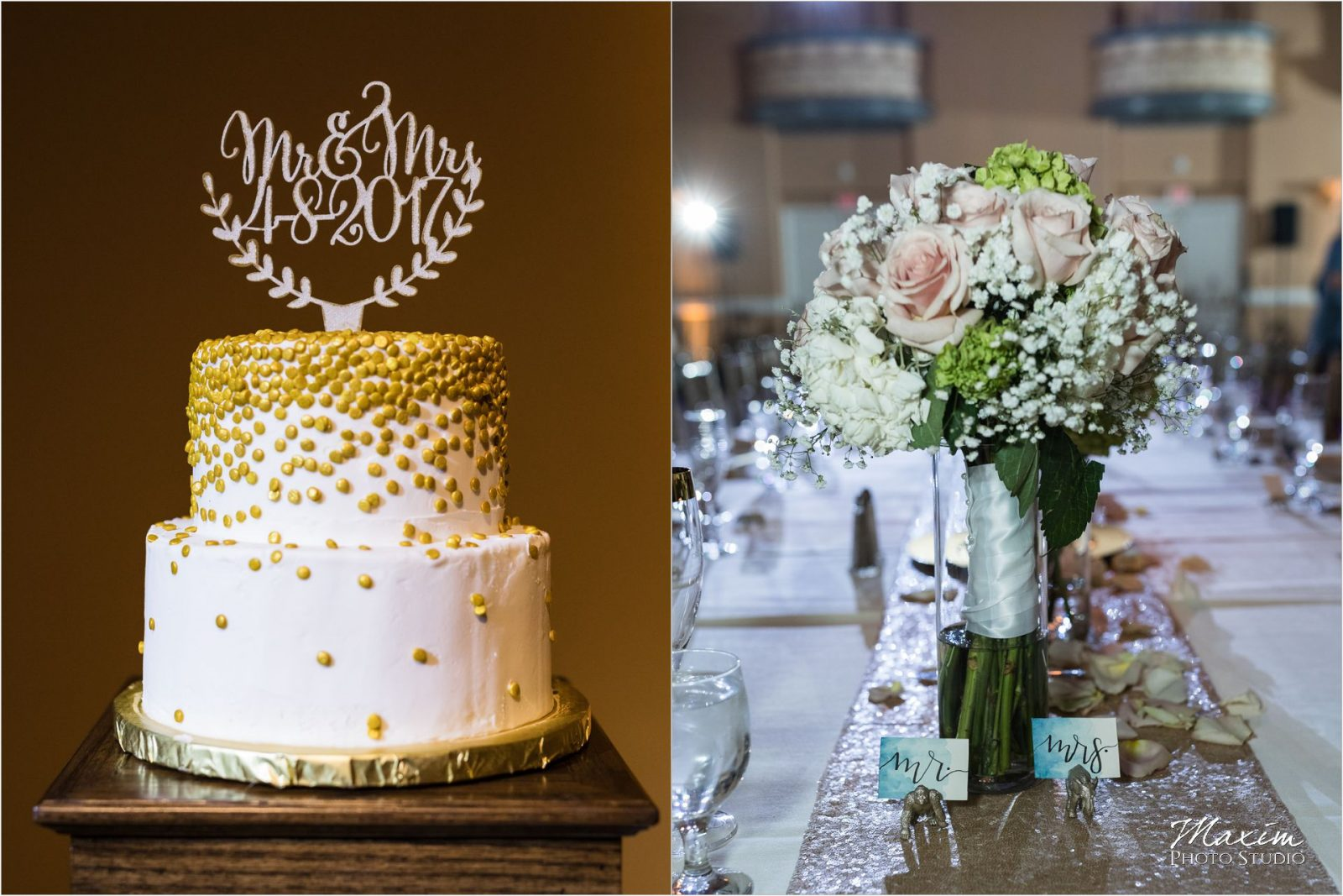 The Phoenix Cincinnati Wedding Reception Details Cake
