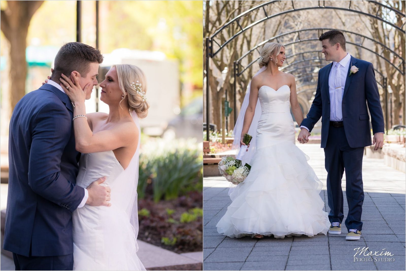 The Phoenix Cincinnati Groom bride portraits Piatt Park