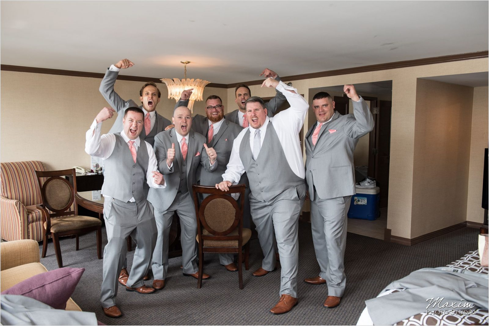 Top of the Market Dayton Ohio Wedding groom preparations
