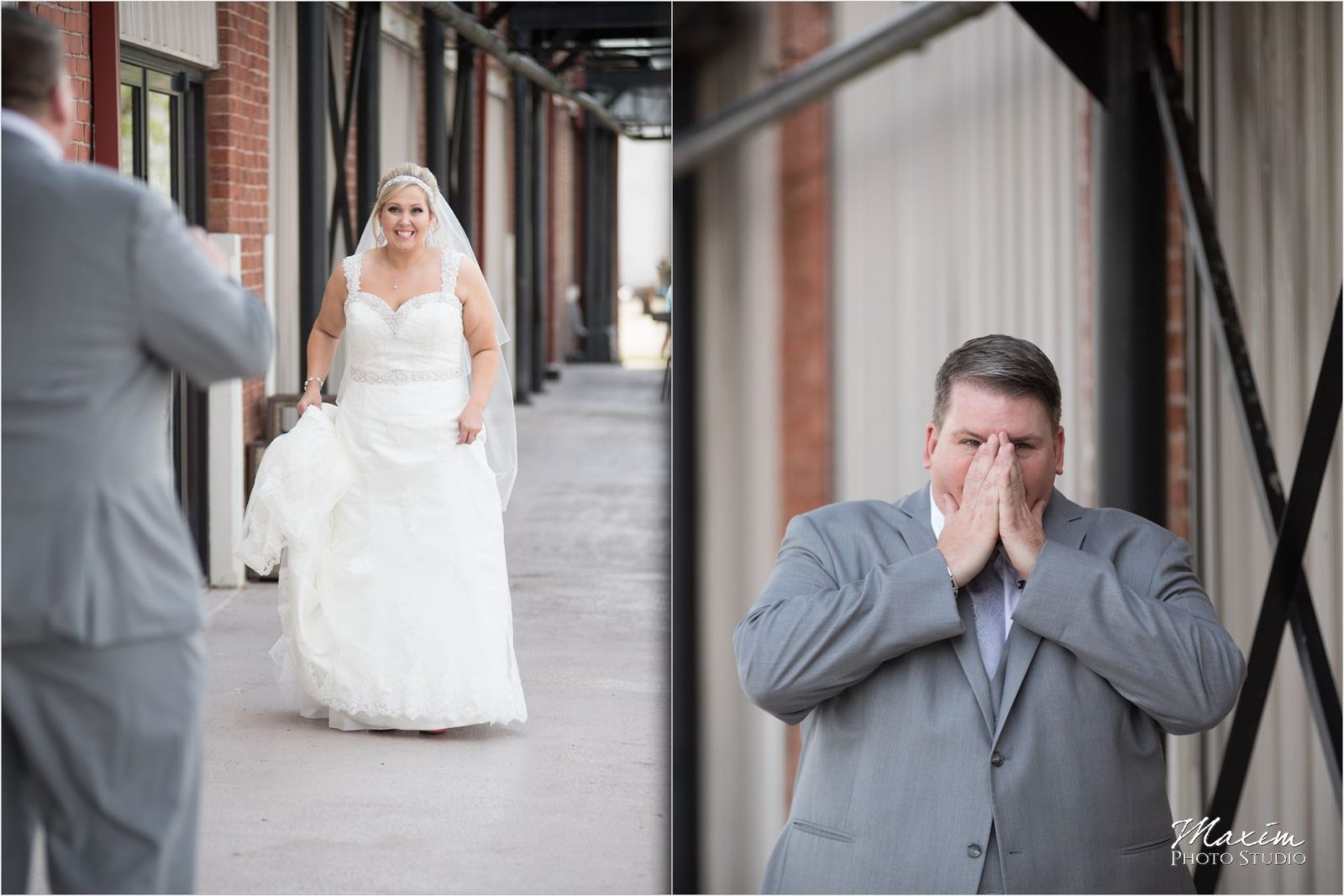 Top of the Market Dayton Ohio Wedding first look