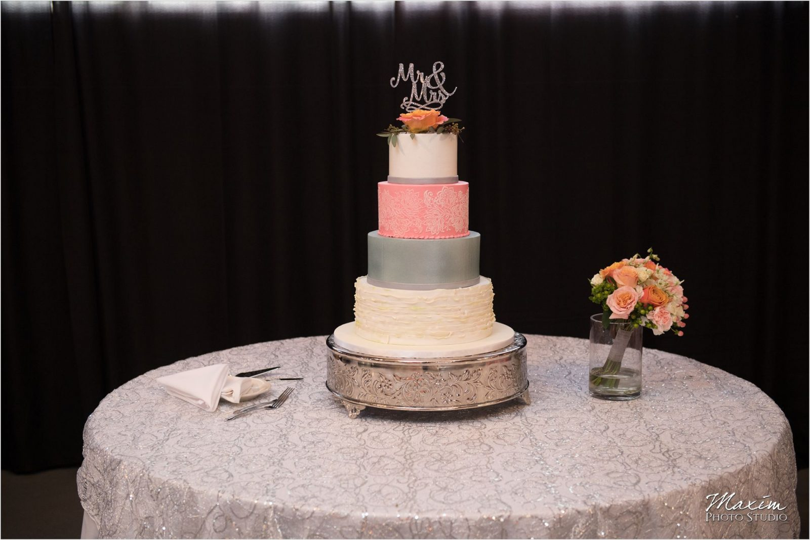 Top of the Market Dayton Ohio Wedding Reception cake