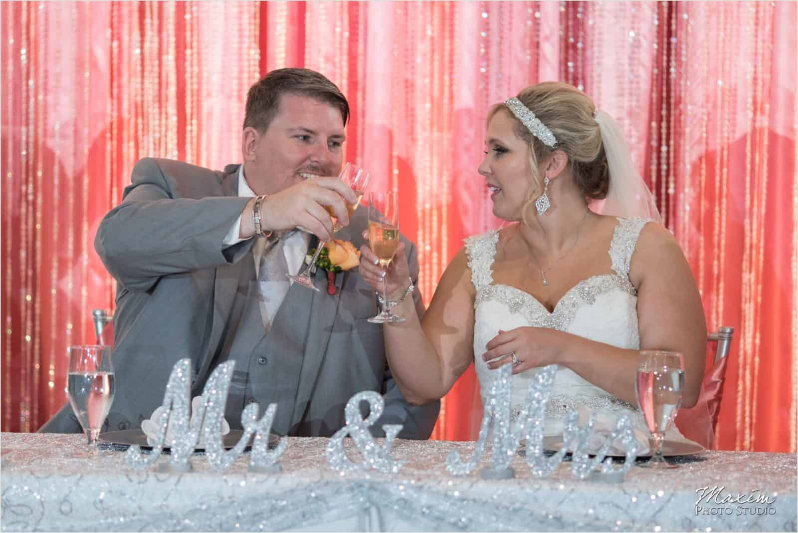 Top of the Market Dayton Ohio Wedding Reception toast