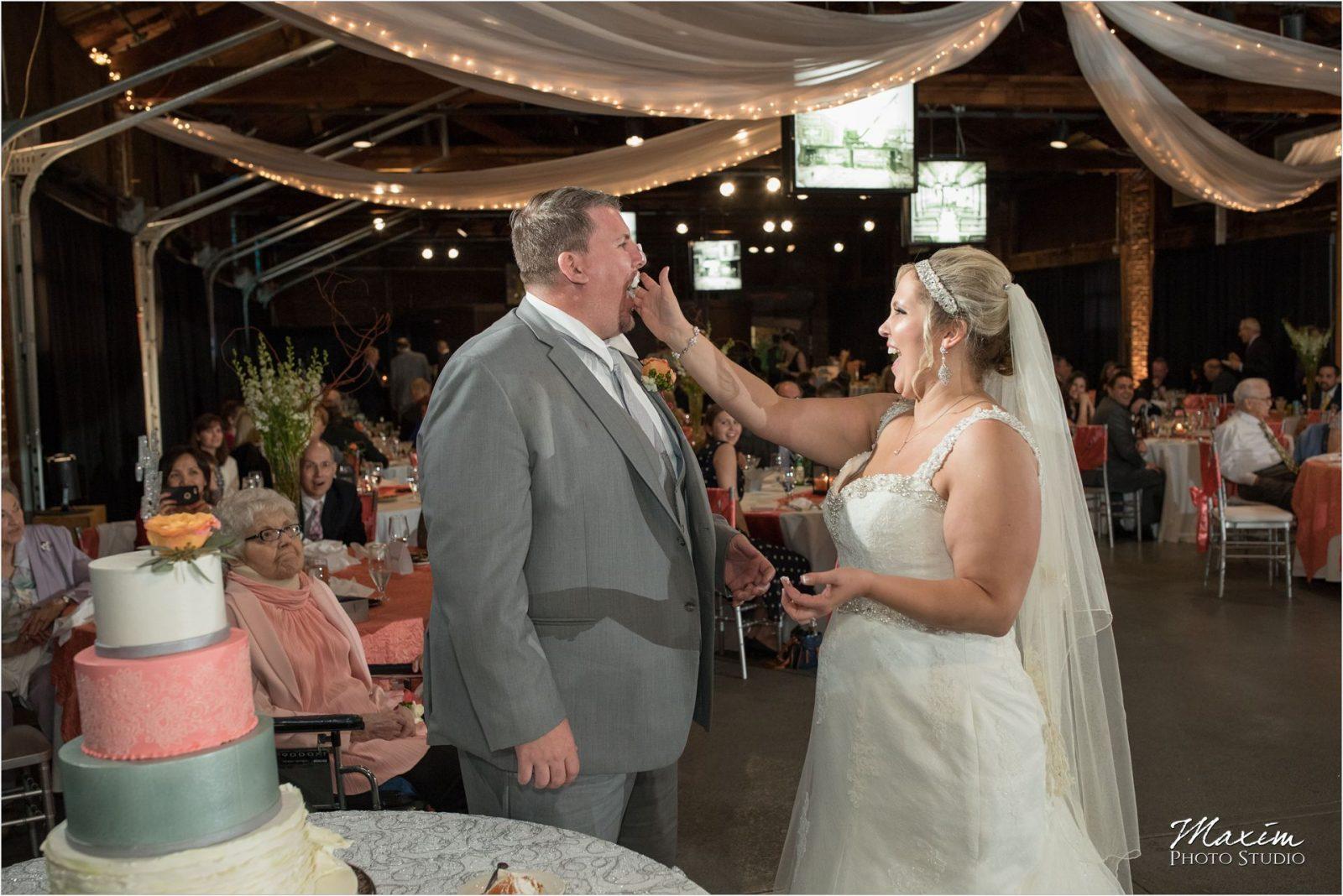 Top of the Market Dayton Ohio Wedding Reception cake