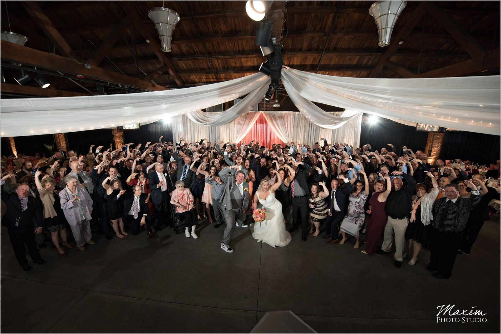 Top of the Market Dayton Ohio Wedding Reception group Photo