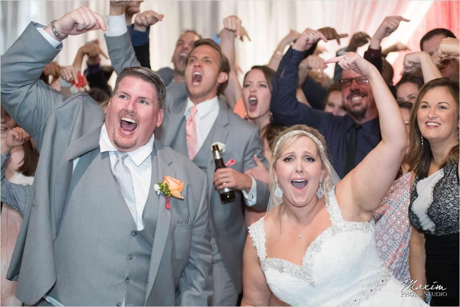 Top of the Market Dayton Ohio Wedding Reception group Photo
