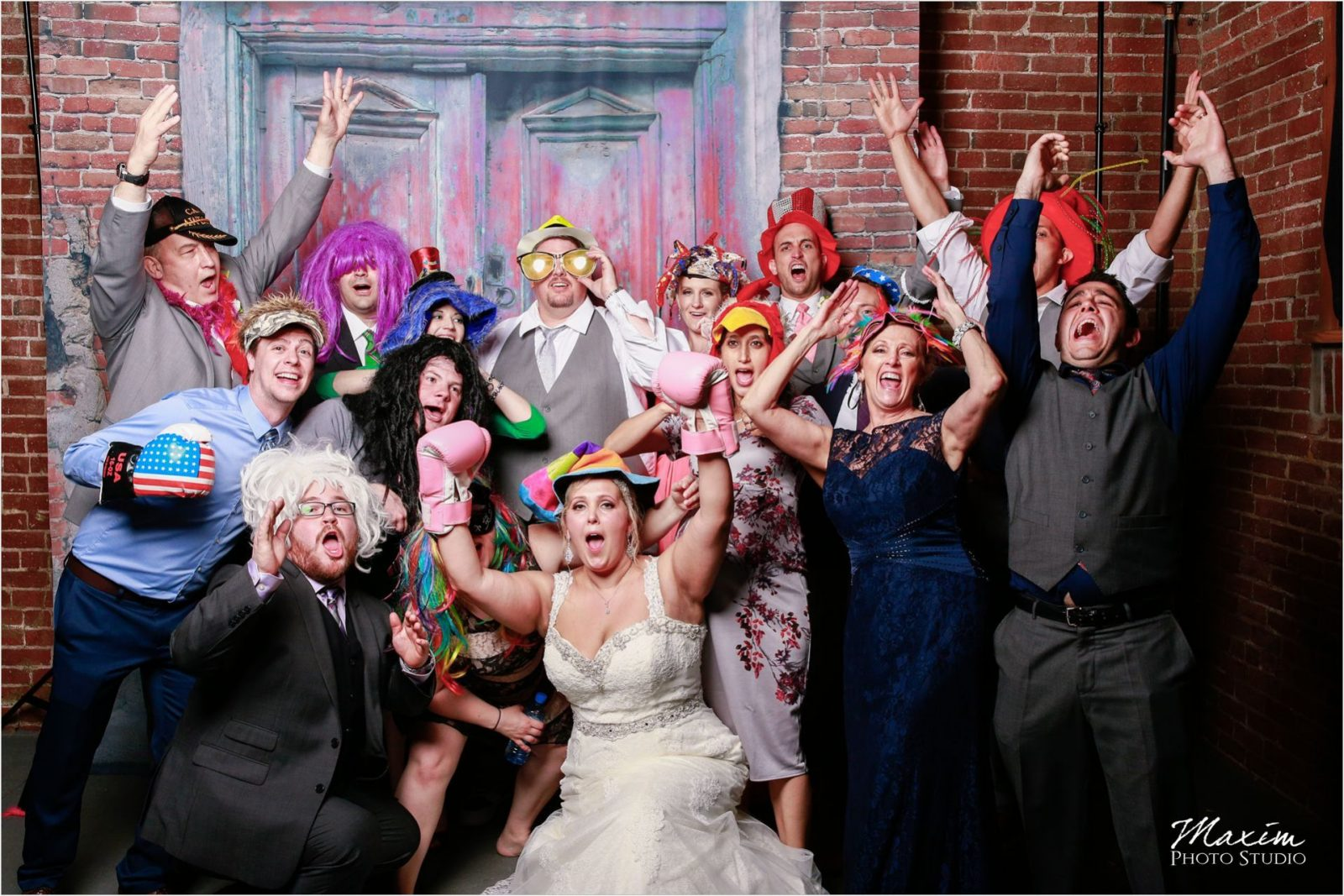 Top of the Market Dayton Ohio Wedding Reception photo booth