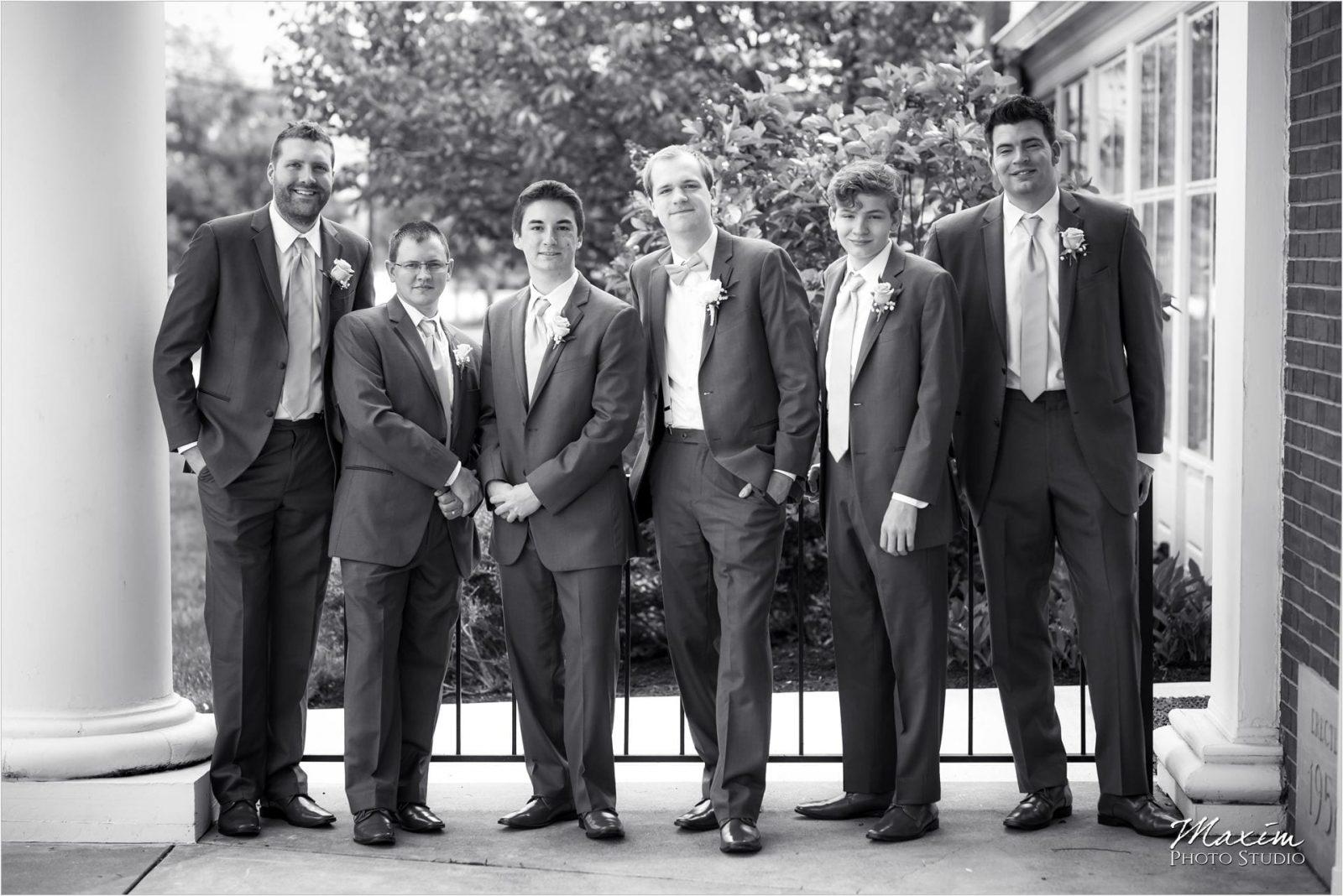 Anderson Hills UMC Cincinnati Wedding, Groom, groomsmen