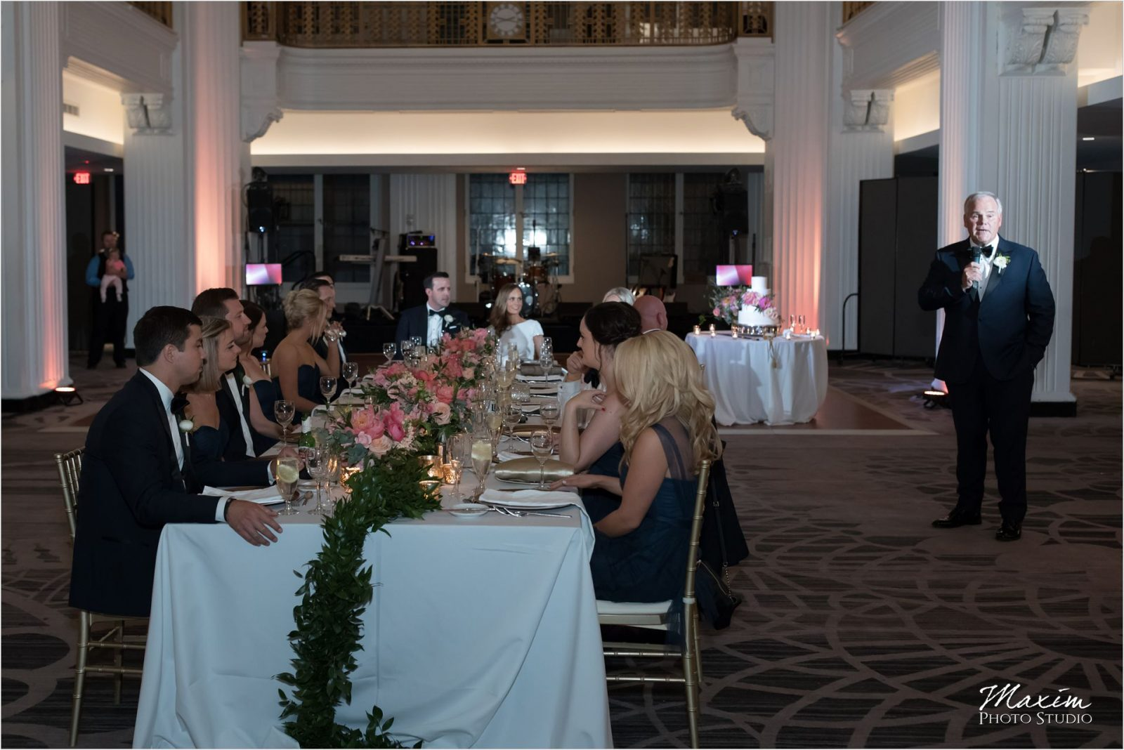 Renaissance Hotel Cincinnati Wedding Reception Bride toasts
