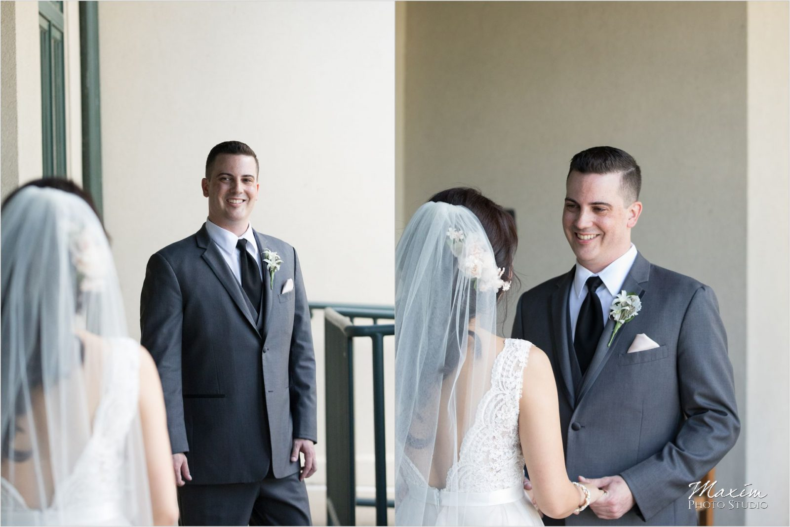 Four Bridges Country Club Wedding Bride Groom first look