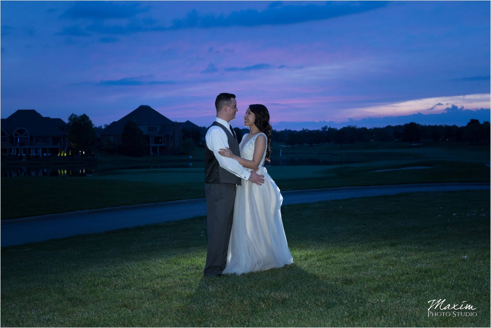 Four Bridges Country Club Wedding Reception Sunset