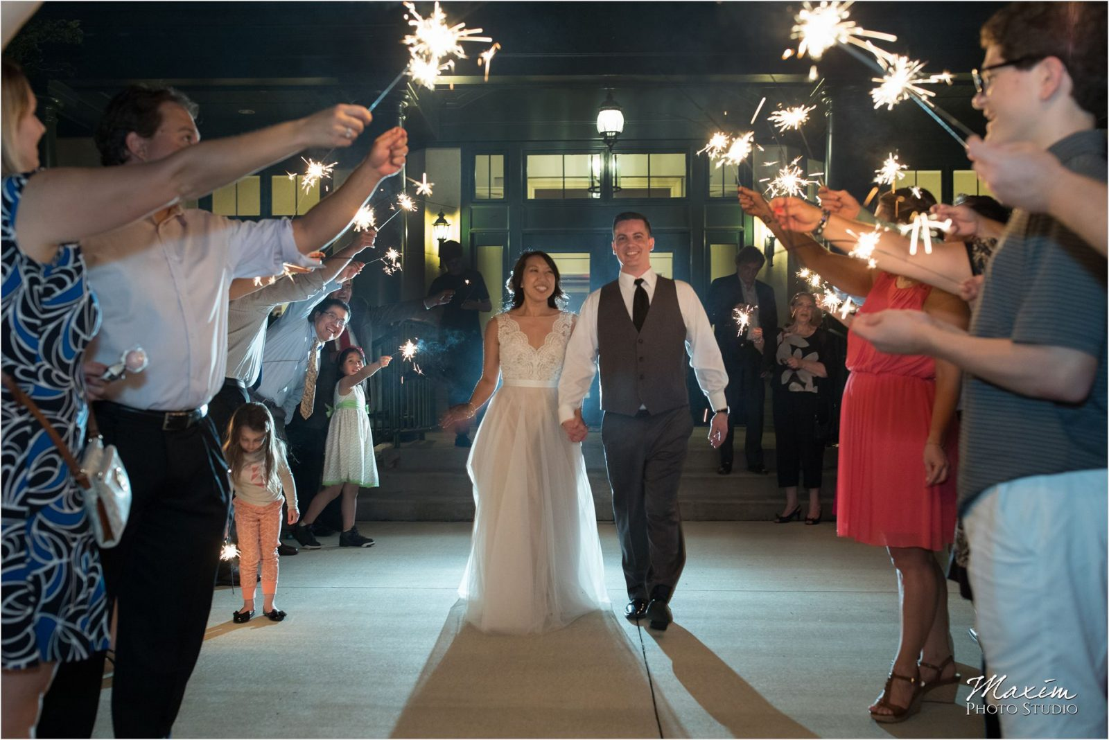 Four Bridges Country Club Wedding Reception Sparklers exit