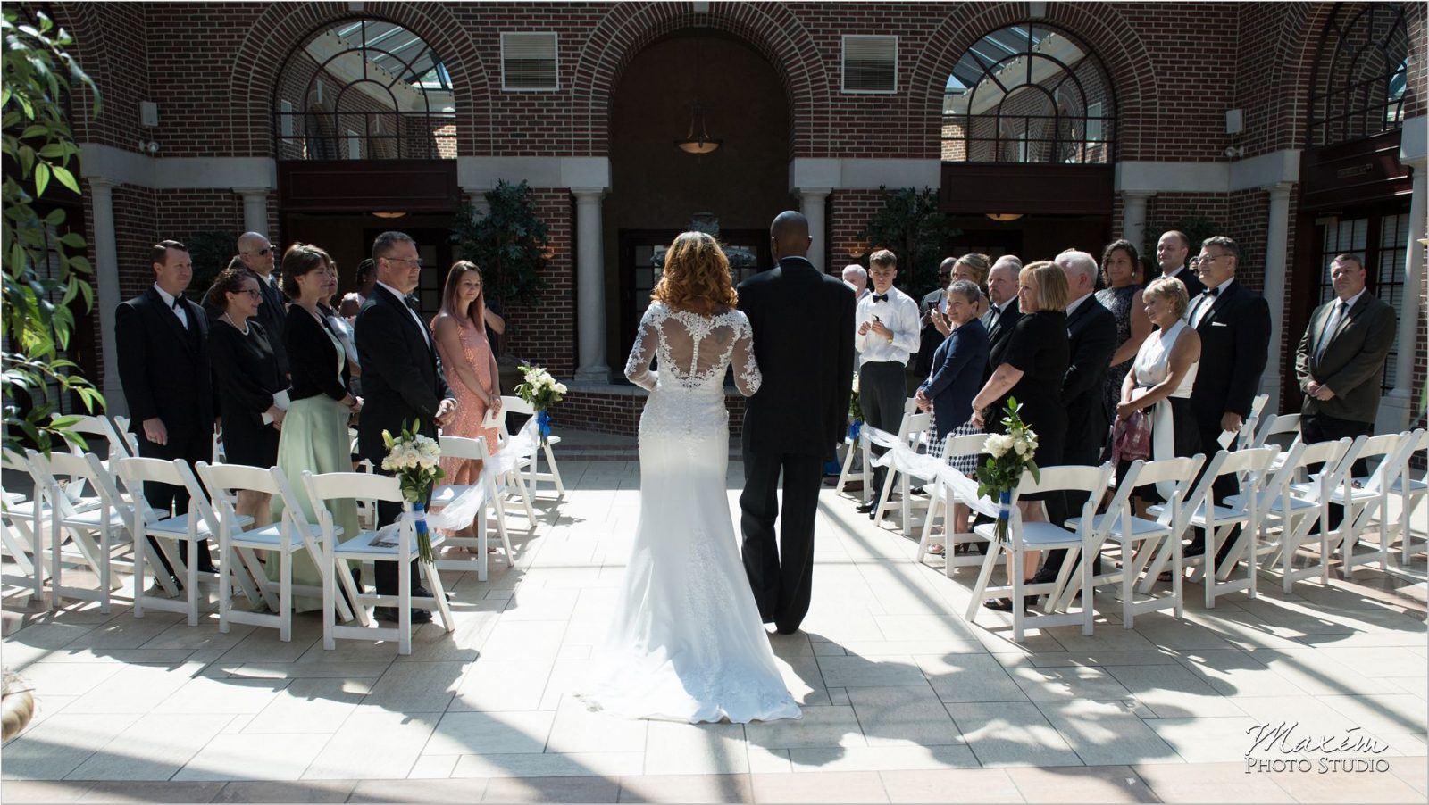 Manor House Atrium Ohio Wedding Ceremony