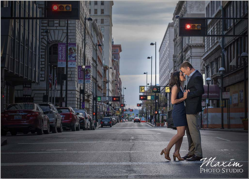 Red light Cincinnati Engagement