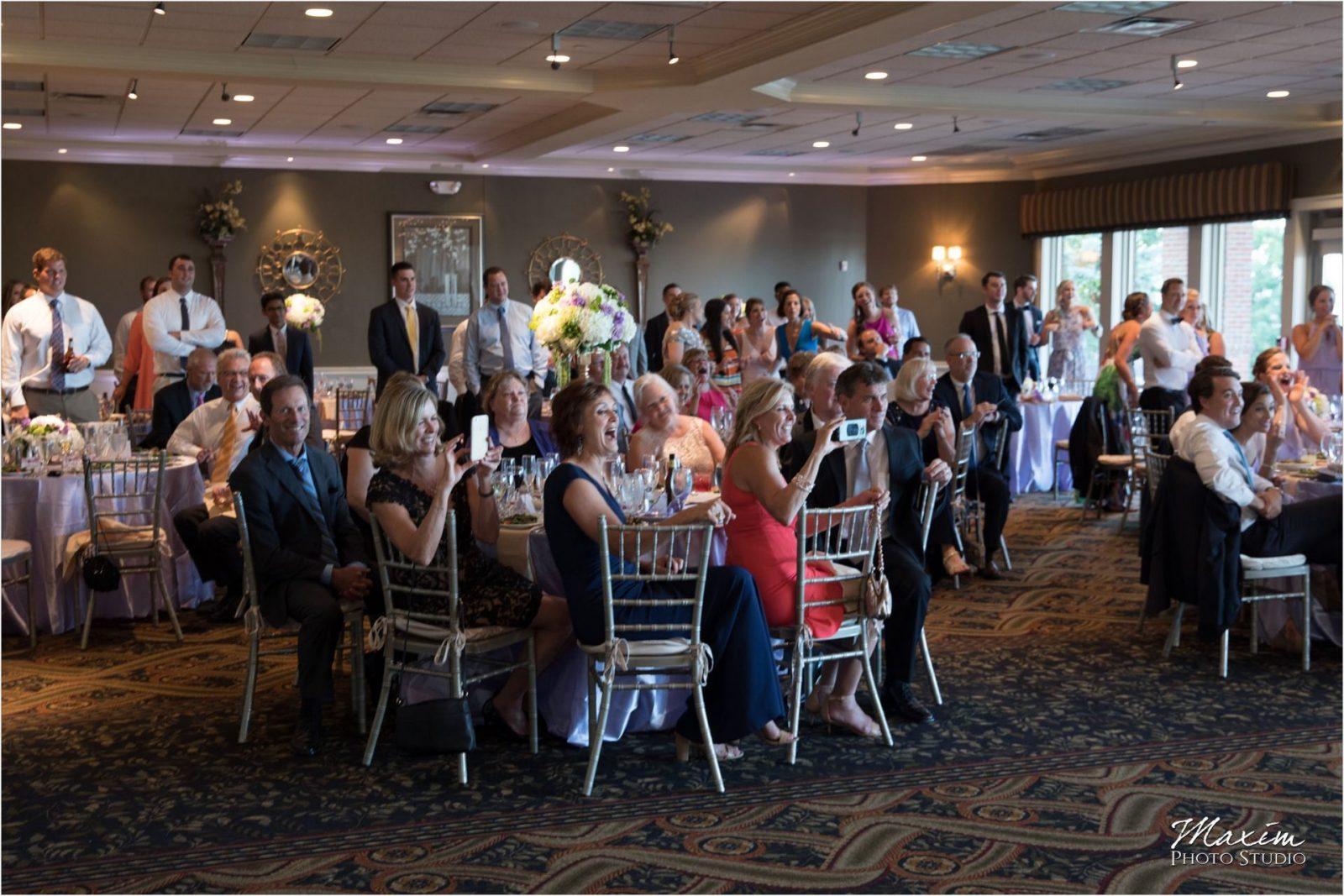 Cincinnati Wedding Photographers Drees Pavilion Wedding Reception guests