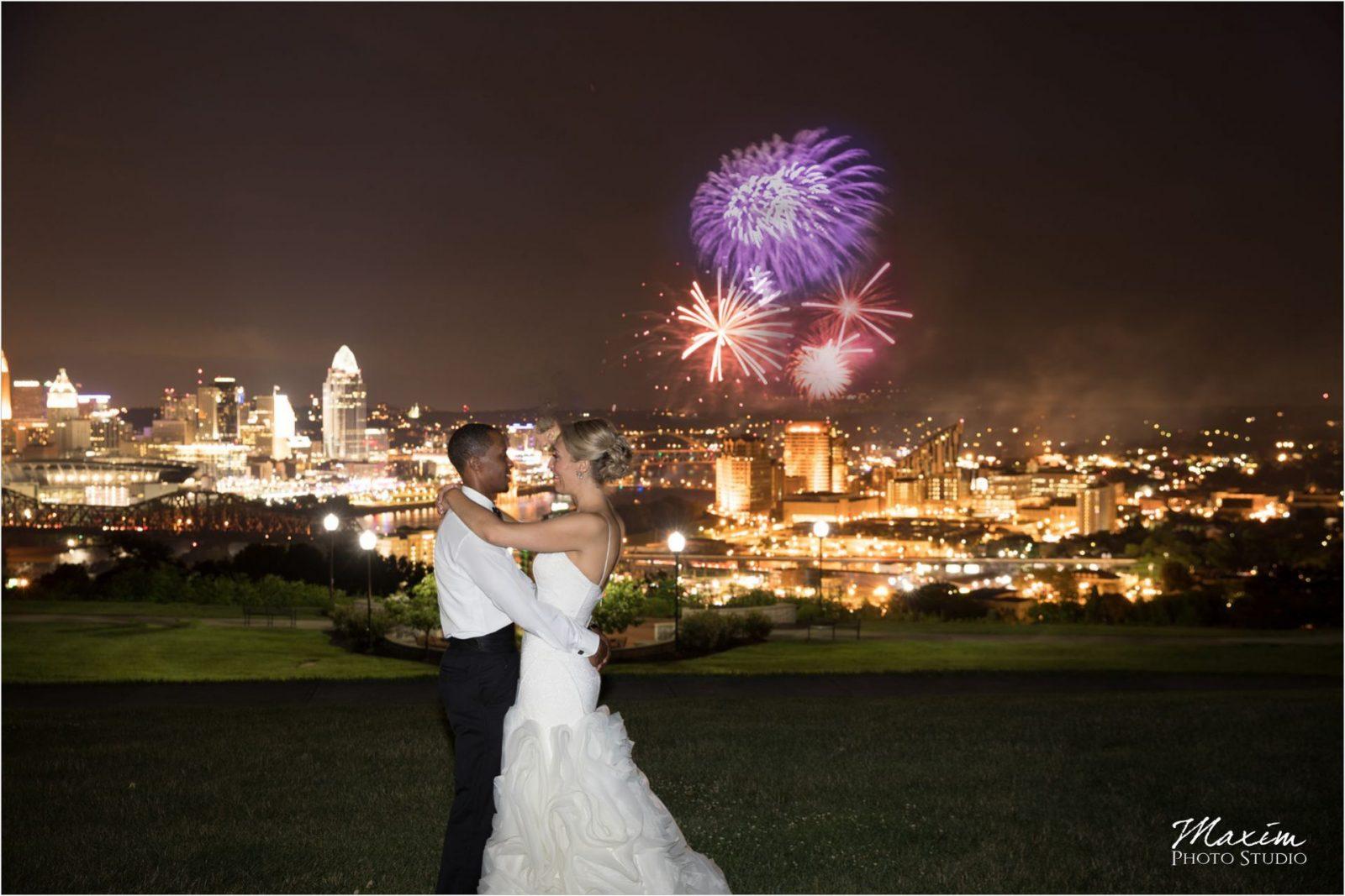 Drees pavilion Cincinnati Wedding Photography fireworks