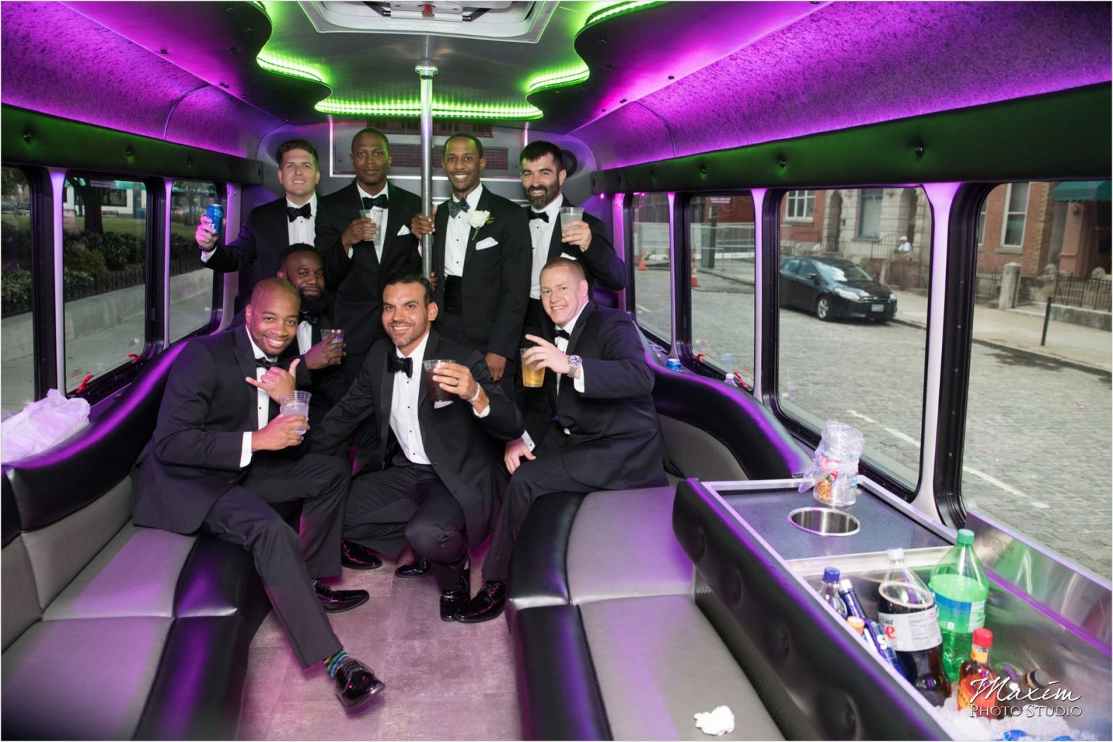 My Party Bus Groomsmen pictures