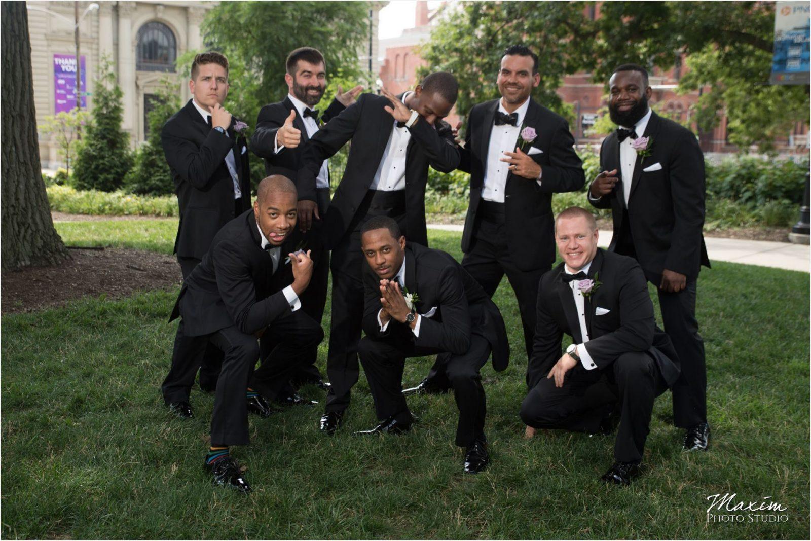 Washington Park Groomsmen Pictures tuxedo