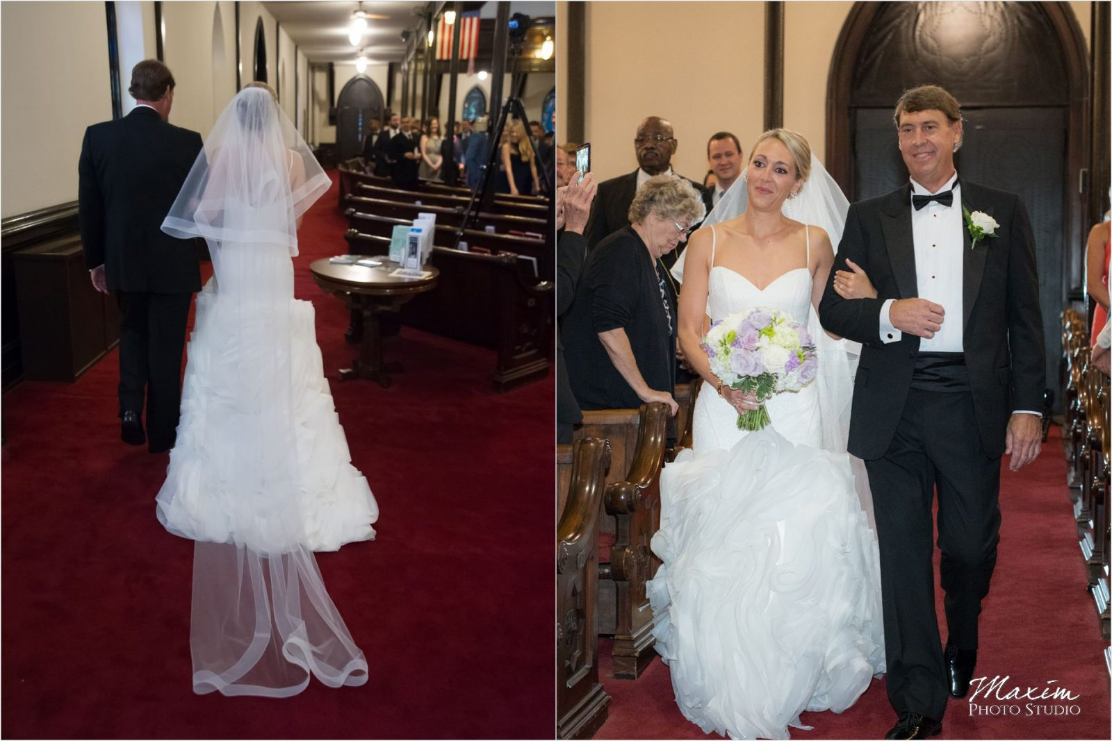 Covenant First Presbyterian Church Wedding Ceremony Bride