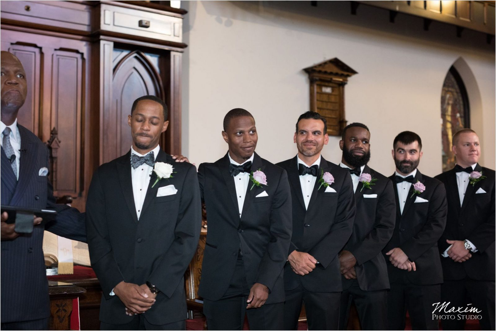 Covenant First Presbyterian Church Wedding Ceremony Groom
