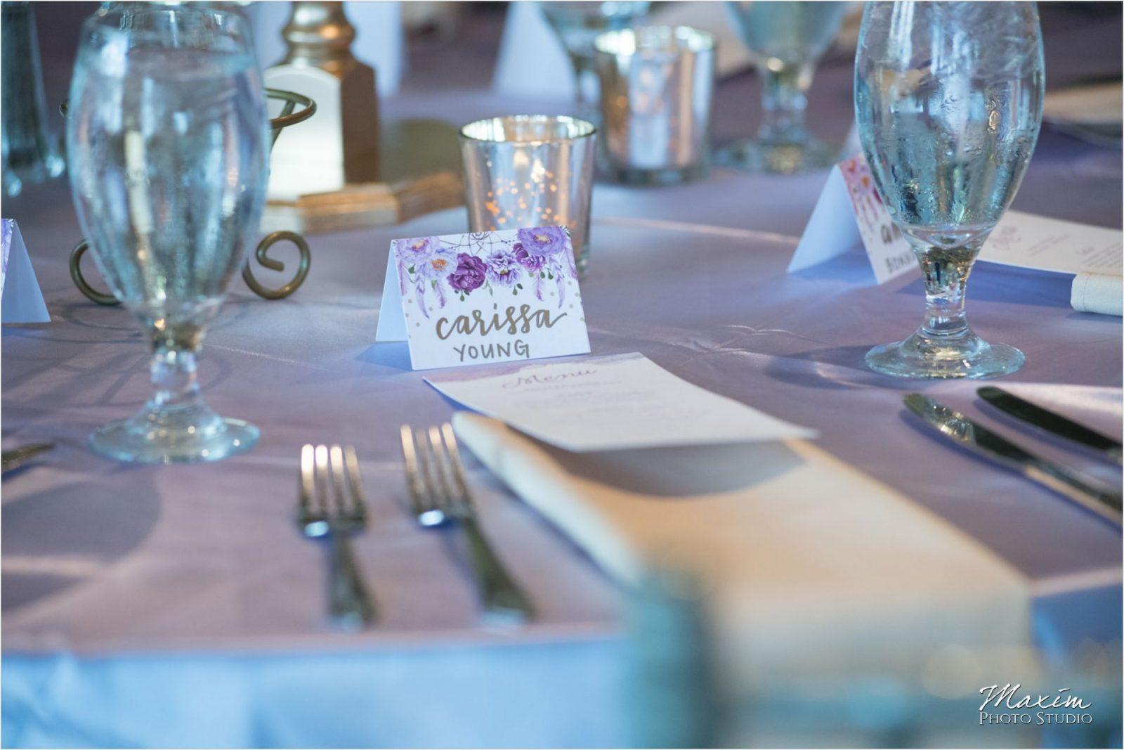 Drees Pavilion Wedding Reception details